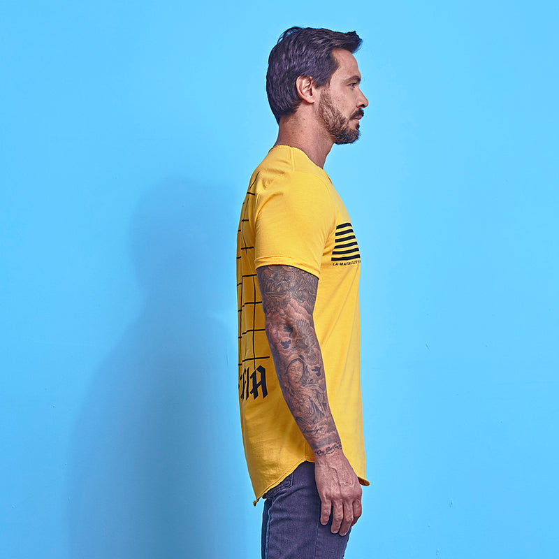 T-Shirt La Mafia Racer Yellow