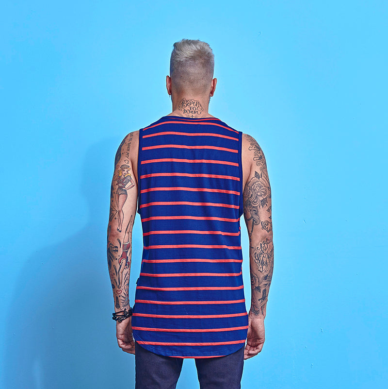 Tank La Mafia Tees Stripes Purple