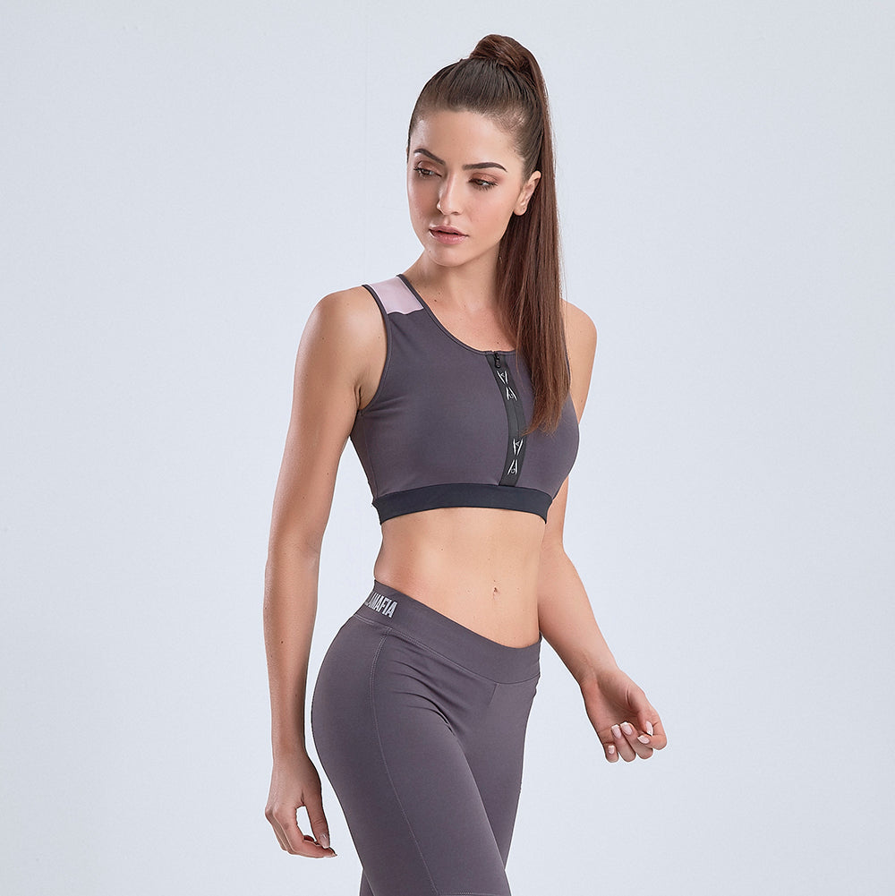 Sports Bra Global Active Gray