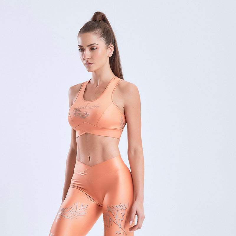 Sports Bra Glossy Orange