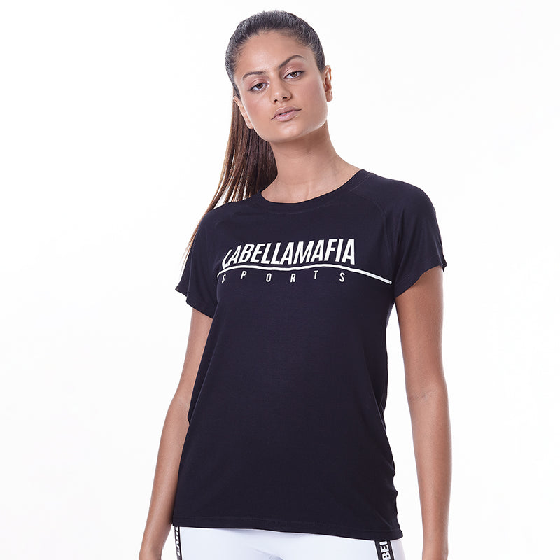 T-Shirt Essentials Labellamafia Black