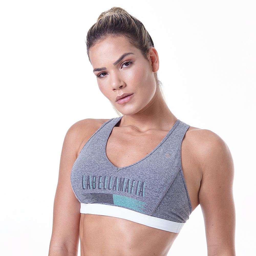 Sports Bra Pastels Gray
