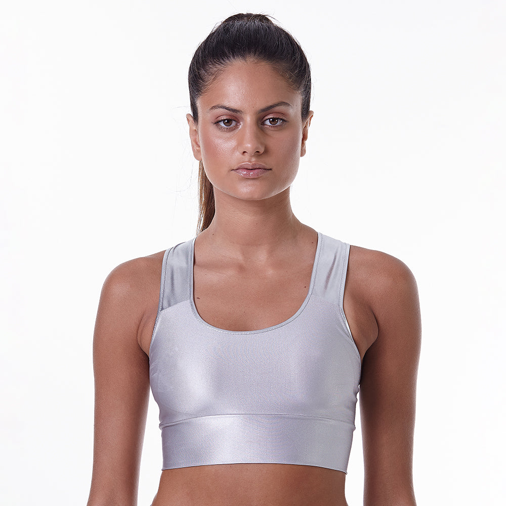 Sports Bra Metallic Athleisure Moments