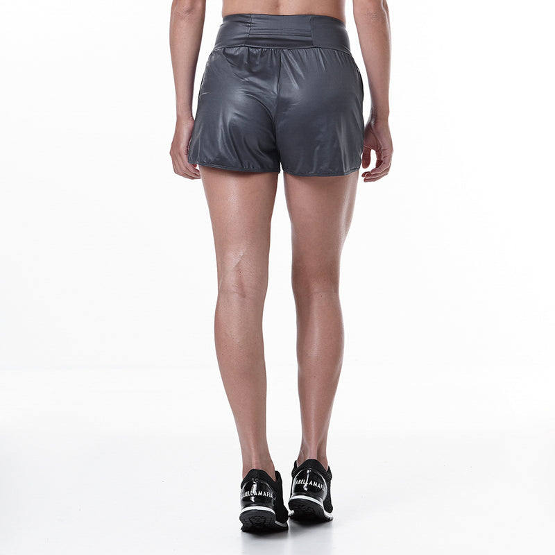 Shorts Animal Print Gray