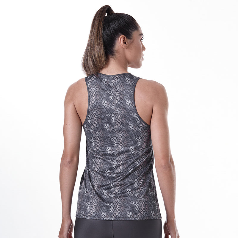 Tank Top Animal Print Gray