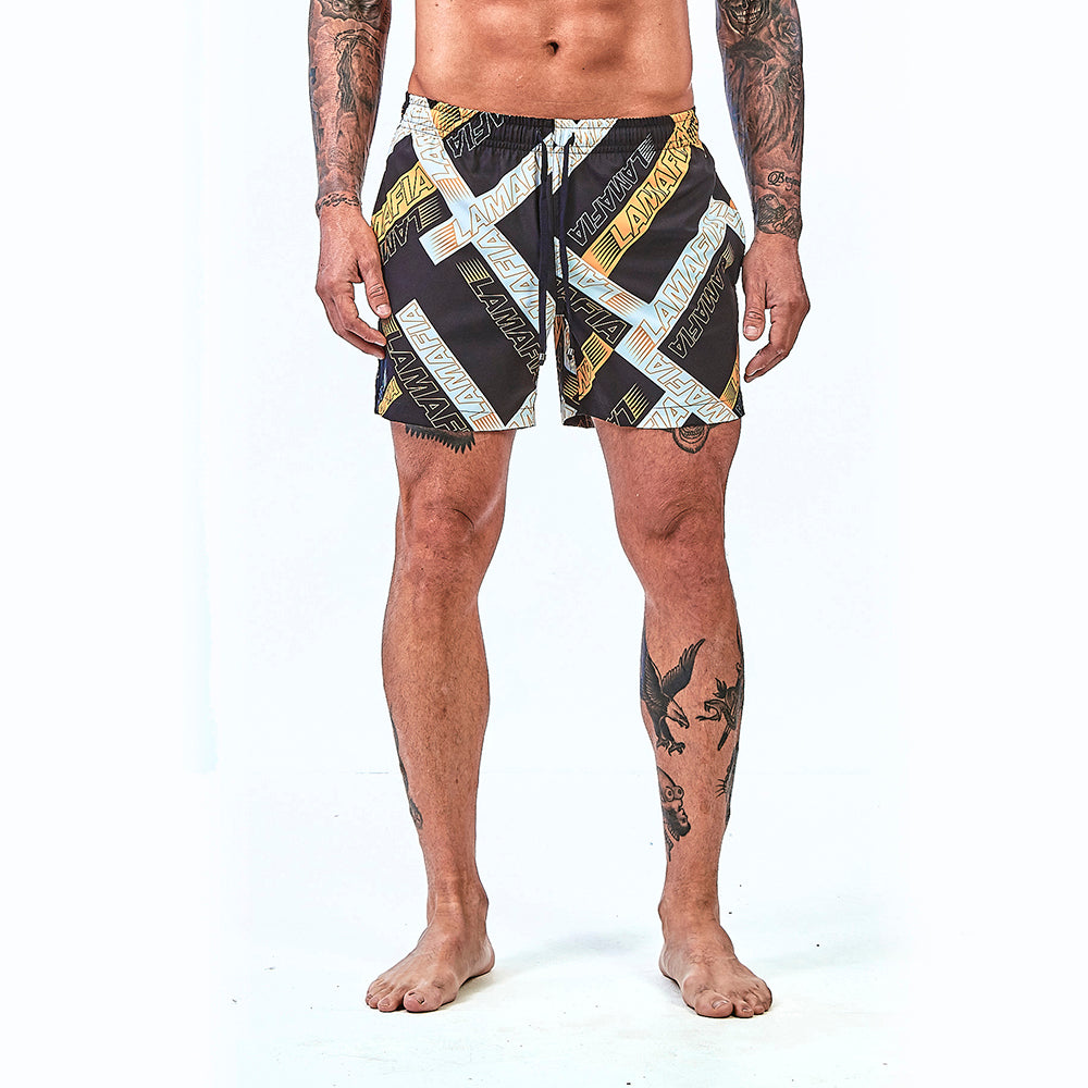 Shorts La Mafia Beachwear Tropical Street Stripes