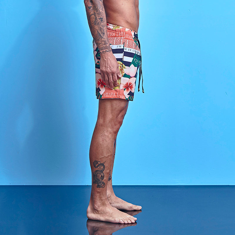 Shorts La Mafia Beachwear Tropical Street Flowers