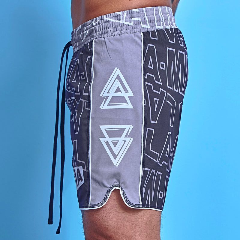 Shorts La Mafia Beachwear Tropical Street Gray