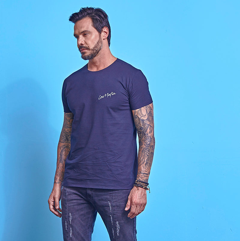 T-Shirt La Mafia Essentials Dark Blue