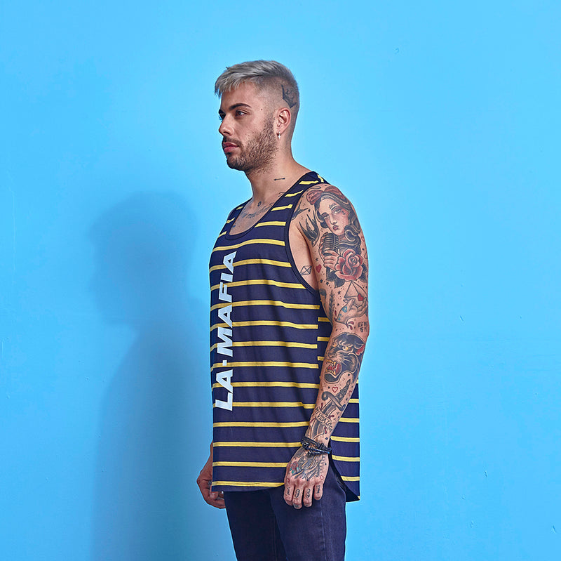 Tank La Mafia Tees Stripes Black