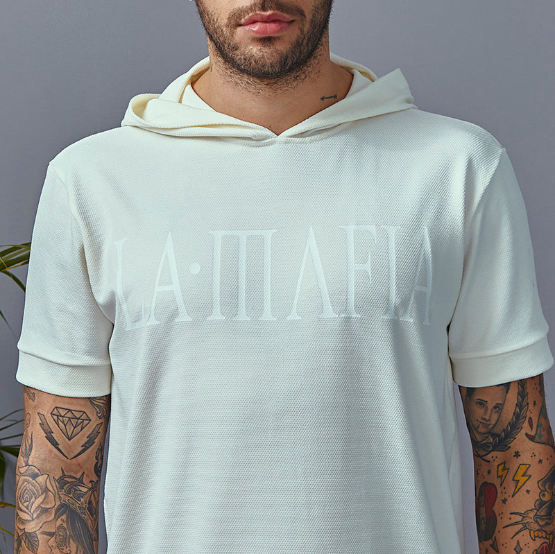 T-shirt La Mafia Street All White