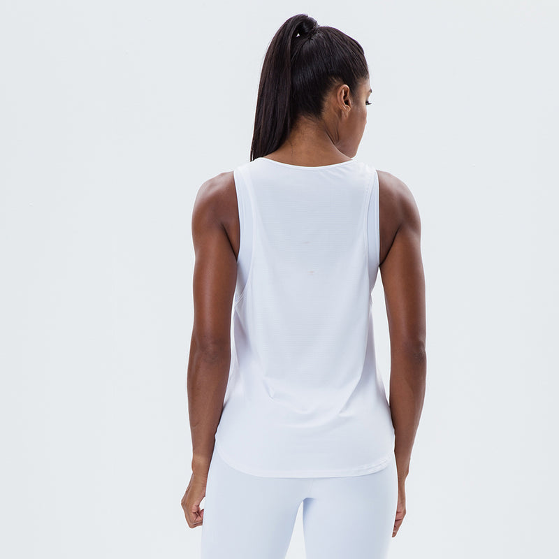 Tank Top Essentials Labellamafia Sports White
