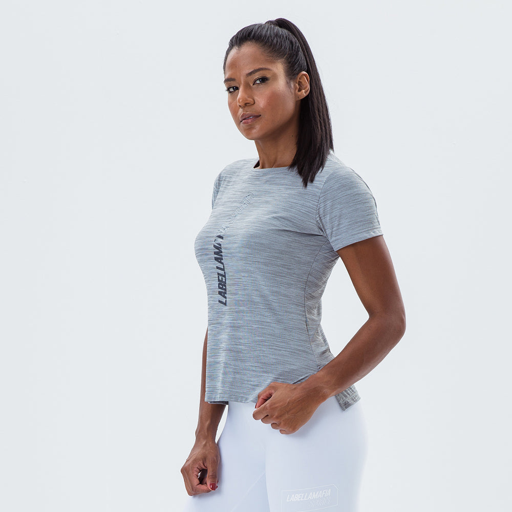 T-Shirt Essentials Labellamafia Sports Gray