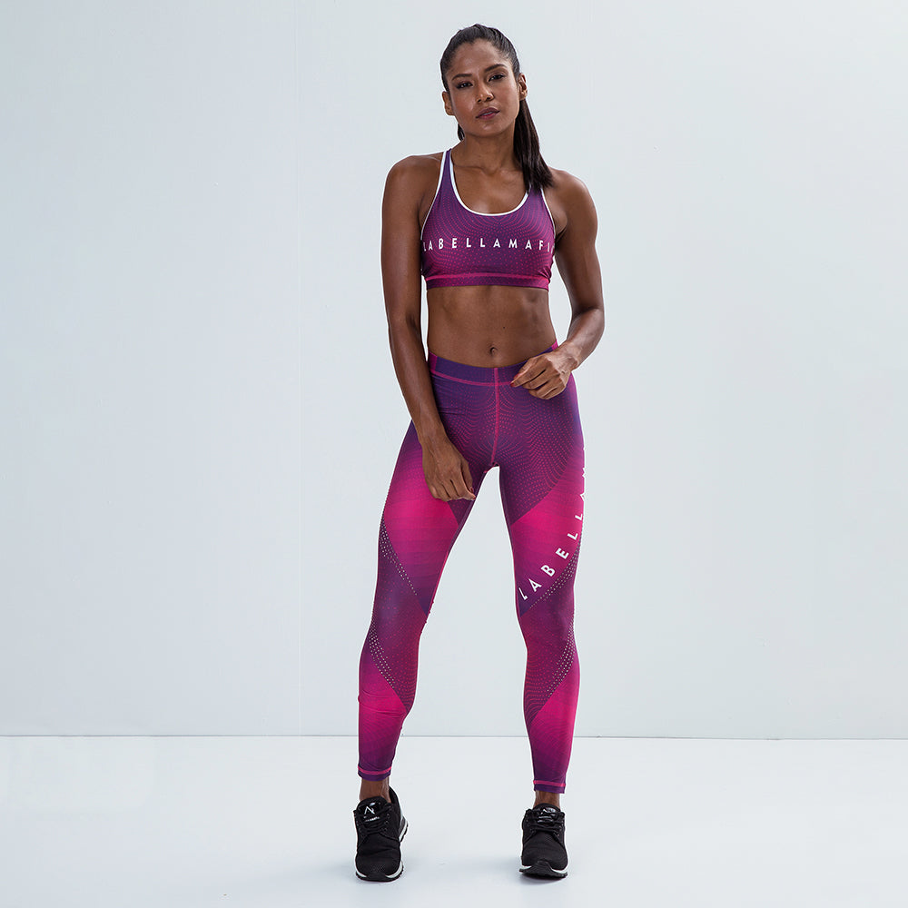 Fitness Set Printed Pink Shine