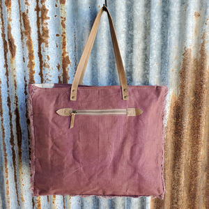 Burgundy Cowhide Peripatetic Weekender Back