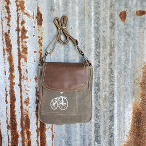 Green Paris Bicycle Cross Body Front