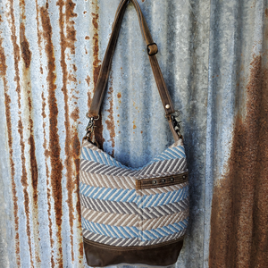 Blue Side Line Cross Body Front