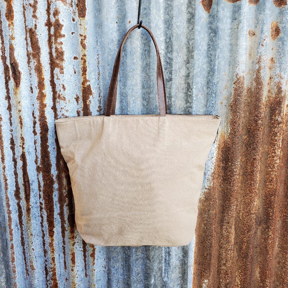 Sunflower Cowhide Tote Back