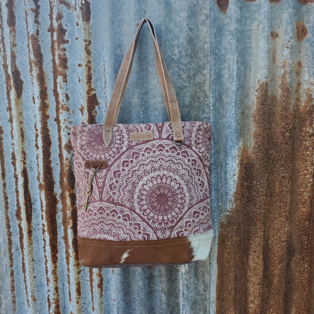 Radiant Cowhide Tote Front
