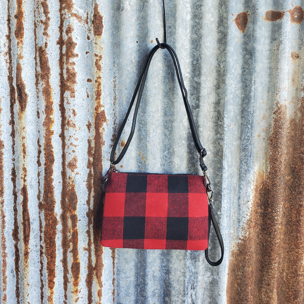 Red Plaid Crossbody Front