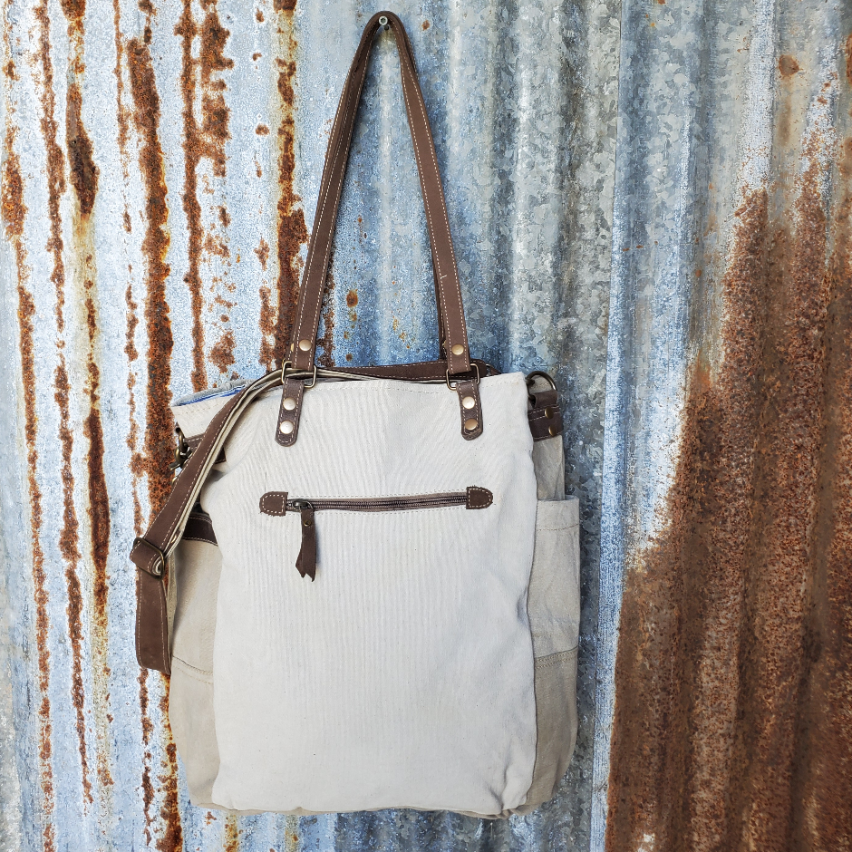 Spring Co Canvas Messenger Back