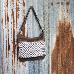 Large Diamond Canvas Cross Body Front