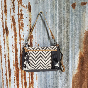 Chevron Dual Strap Cross Body Front