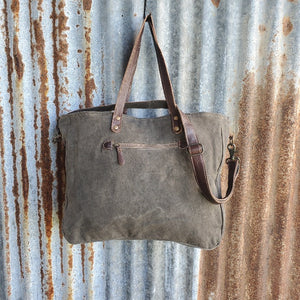 Classic 1930 Cowhide Messenger Bag Back