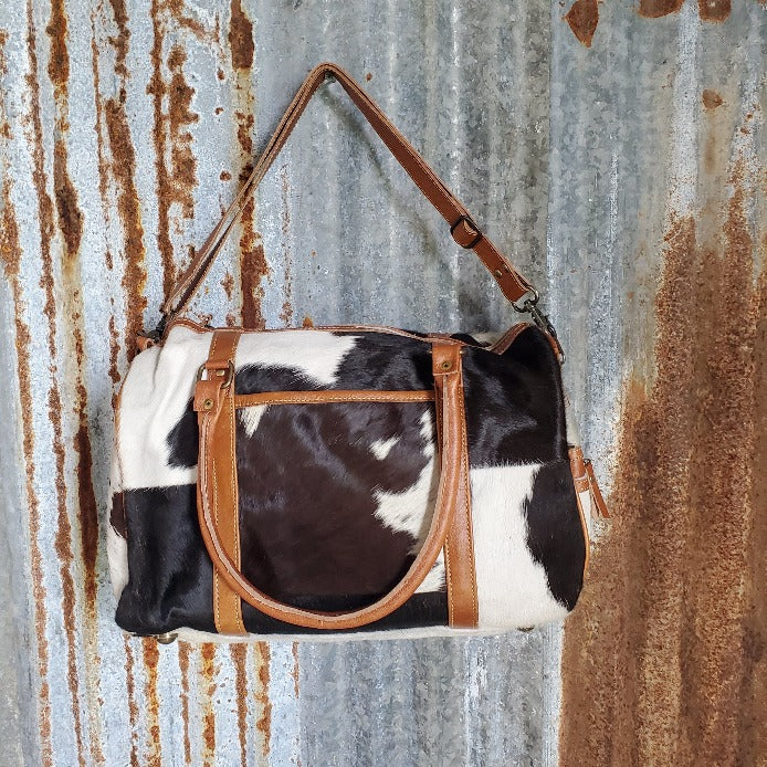 Cowhide Duffel Bag Back