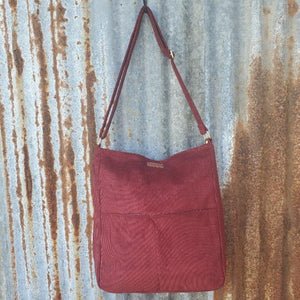 Red Corduroy Crossbody Front