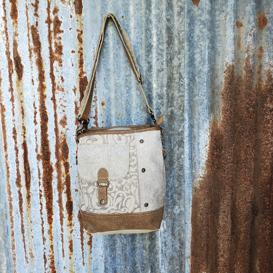 Paisley Cowhide Cross Body Front