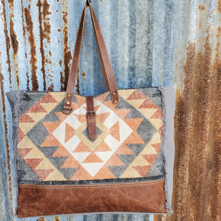 Multi-Color Corky Pattern Weekender Front