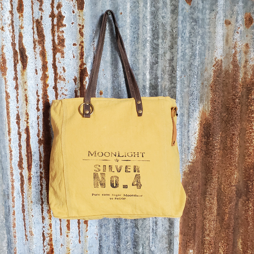 Yellow and Brown Moonlight Tote Front