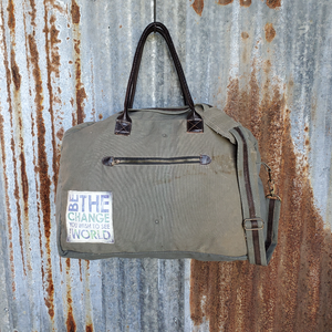 Be The Change Duffel Bag Front