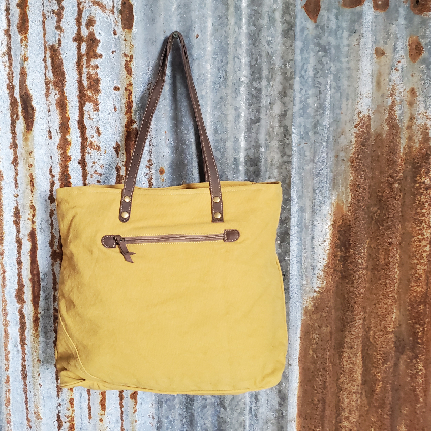 Yellow and Brown Moonlight Tote Back