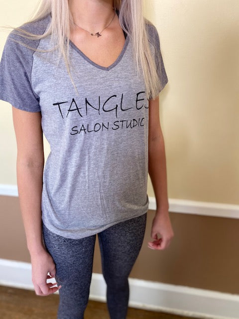 Tangles Two Toned Gray T-Shirt - TanglesOnline.Com
