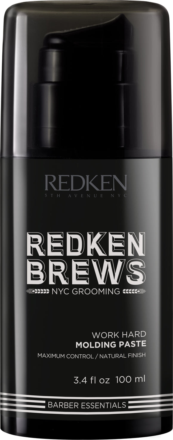 Redken Brews Work Hard Molding Paste - TanglesOnline.Com