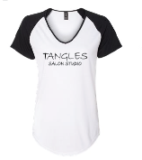 Tangles Black and White Baseball Shirt - TanglesOnline.Com