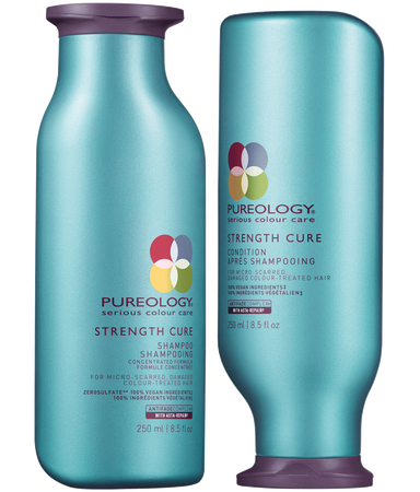 Pureology Strength Cure Shampoo & Conditioner Duo - TanglesOnline.Com