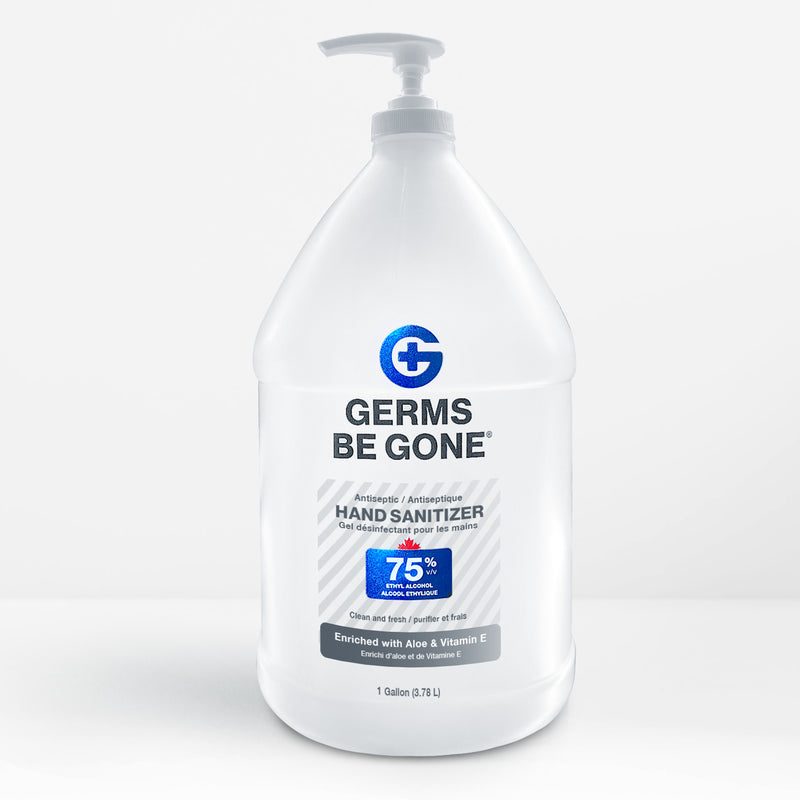 4 bottles - 75% Germs Be Gone - 1 Gallon (3.78L)