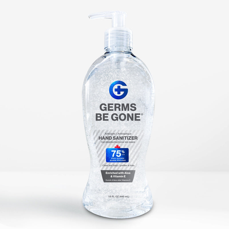12 bottles -  75% Germs Be Gone - 443mL (15oz)