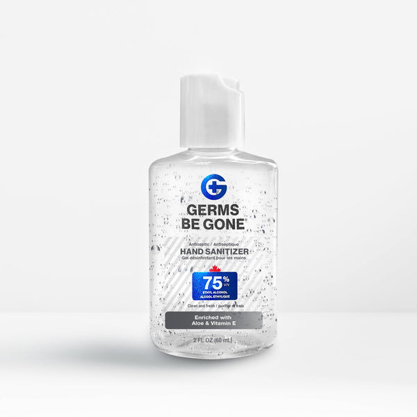 12 bottles - 75% Germs Be Gone - 59mL (2oz)