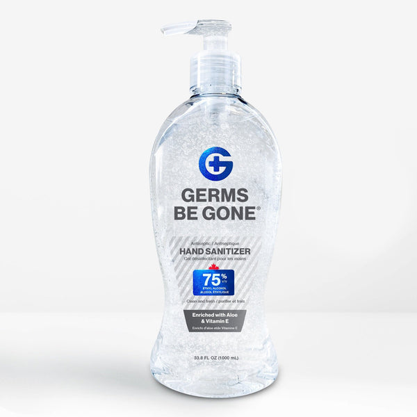 12 bottles - Germs Be Gone - 1 Liter (33.8oz)