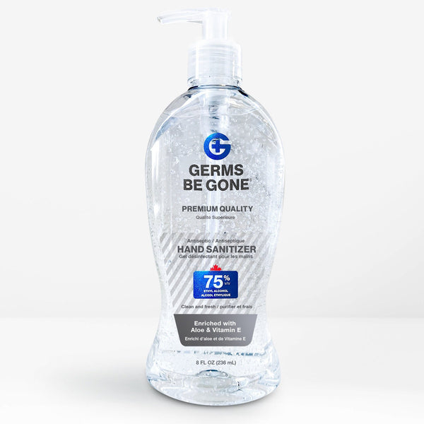 6 bottles - 75% Germs Be Gone - 236mL (8oz)