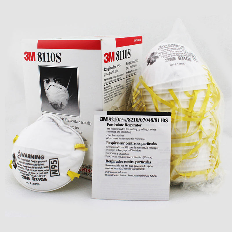 20 pack - 3M™ Disposable Respirator 8110S - Size Small