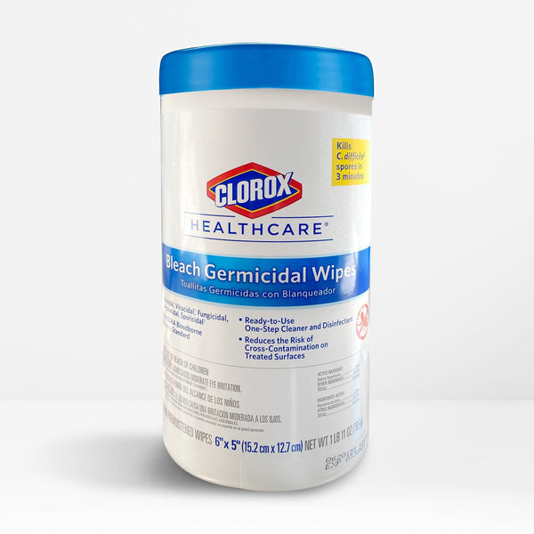 Clorox Healthcare Bleach Germicidal Wipes - Ready-To-Use Wipe - 3 Pack (450 count)