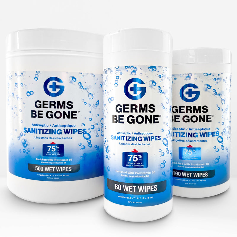 Germs Be Gone Antiseptic Sanitizing Wipes - 80 Count/Pack