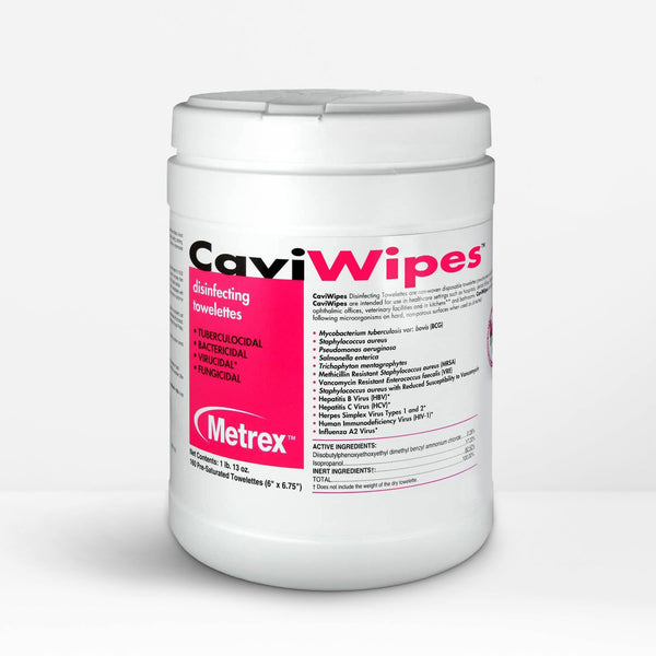 CaviWipes™ Disinfecting Towelettes Canister Wipes - 6 Pack (960 count)