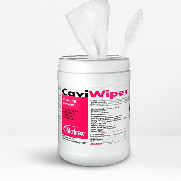 CaviWipes™ Disinfecting Towelettes Canister Wipes - 1 Pack (160 count)