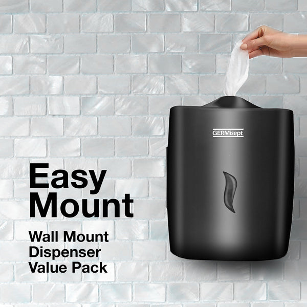 GERMISEPT - WALL MOUNT Dispenser Value Pack (2 x 800 Ct Wipes + 1 Dispenser)